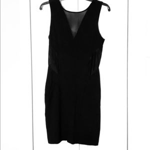 Black dress with mesh cut outs size small